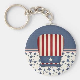 Patriotic Hat Basic Round Button Keychain