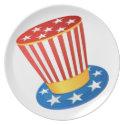 Patriotic hat dinner plate