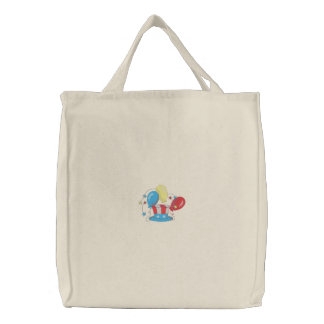 Patriotic Hat Embroidered Tote Bag
