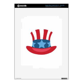 Patriotic Hat iPad 3 Decals