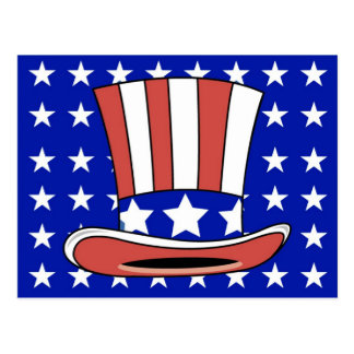 Patriotic Hat Postcard