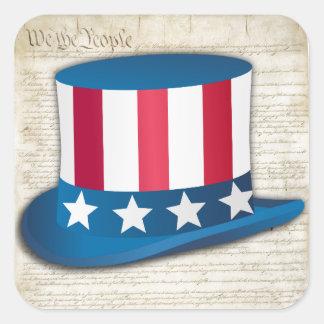 Patriotic Hat Square Sticker