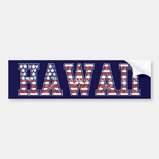 PATRIOTIC HAWAII BUMPER STICKER