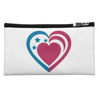 Patriotic Heart Makeup Bag