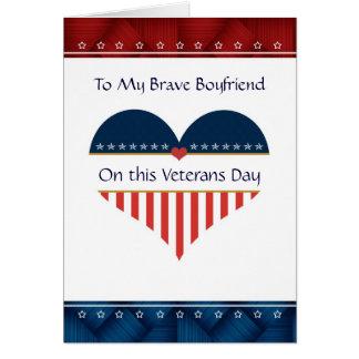 Patriotic Heart Boyfriend Veterans Day Card