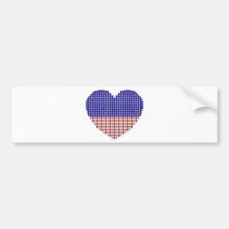 Patriotic Heart Car Bumper Sticker