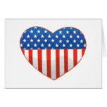 Patriotic Heart card
