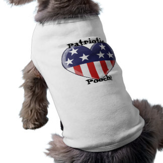 Patriotic Heart Dog Shirt