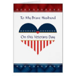 Patriotic Heart Husband Veterans Day Card