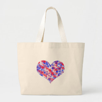 Patriotic Heart Jumbo Tote Bag