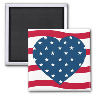 patriotic heart fridge magnet