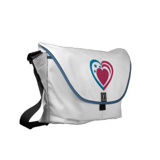 Patriotic Heart Messenger Bags