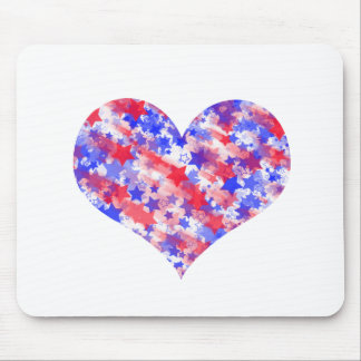 Patriotic Heart Mouse Pad