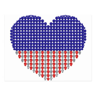 Patriotic Heart Post Card