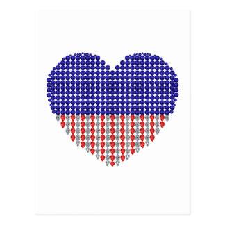 Patriotic Heart Postcards