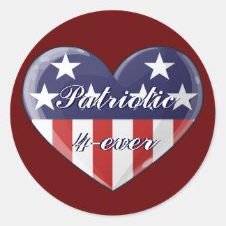 Patriotic Heart Stickers