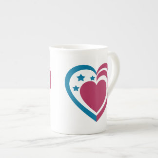 Patriotic Heart Tea Cup