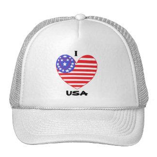 Patriotic  Heart USA Trucker Hat