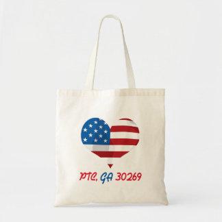 Patriotic Heart with PTC, GA Tote Bag