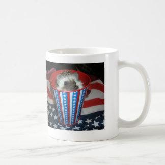 Patriotic hedgehog mug