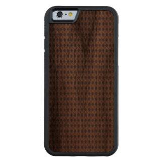 Patriotic Herringbone Plaid Carved Walnut iPhone 6 Bumper Case