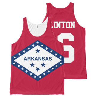 Patriotic Hillary Clinton 2016 Arkansas State Flag All-Over Print Tank Top