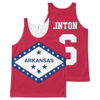 Patriotic Hillary Clinton 2016 Arkansas State Flag All-Over Print Tank Top