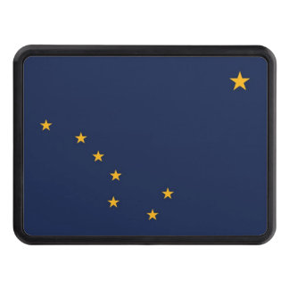Patriotic hitch cover with Flag of Alaska