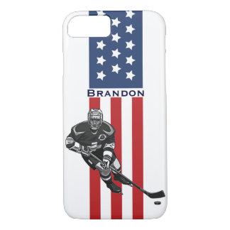 Patriotic Hockey Design iPhone 7 Plus Case