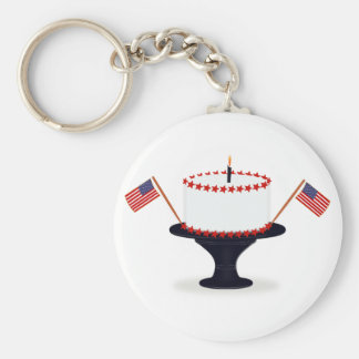 Patriotic Holiday Fourth of July Keychain