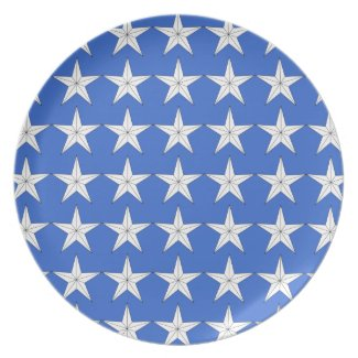 Patriotic Holiday Plate Dinner Plate