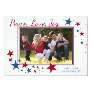 Patriotic Holiday Stars Photo Card