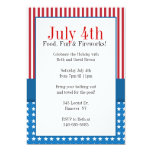 Patriotic Holiday Themed Party invitations