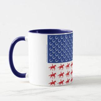 Patriotic Horse and Rider American Flag Mug