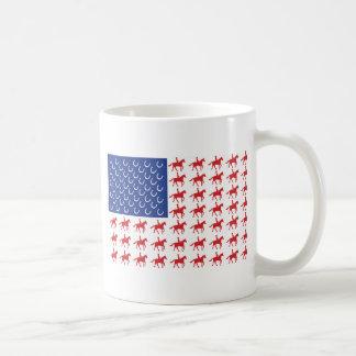 Patriotic Horse and Rider Coffee Mug