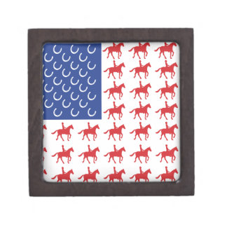 Patriotic Horse and Rider Keepsake Box