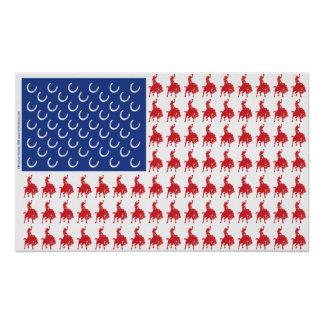 Patriotic Horse and Rider Poster