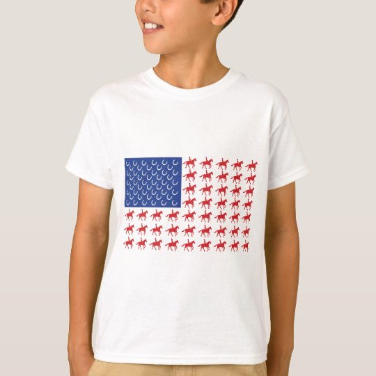 Patriotic Horse and Rider T-Shirt