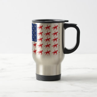 Patriotic Horse and Rider Travel Mug