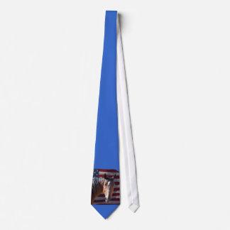 Patriotic Horse and USA  Flag Neck Tie