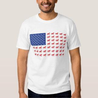 Patriotic Horse Flag Tee Shirt