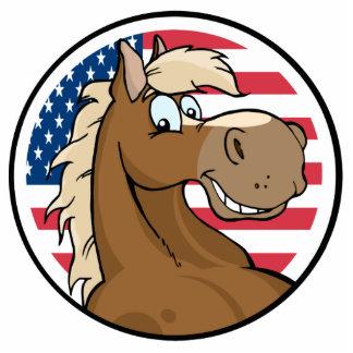 Patriotic Horse Photo Sculpture
