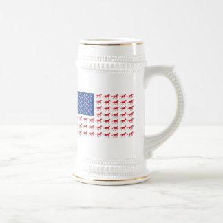 Patriotic Horses American Flag Beer Stein