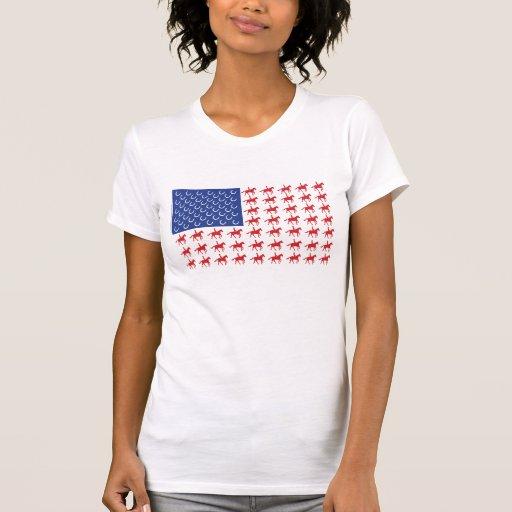 Patriotic Horses American Flag Dresses