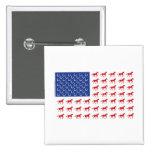 Patriotic Horses American Flag Pinback Buttons