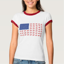 Patriotic Horses American Flag T-Shirt
