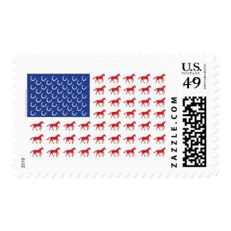 Patriotic Horses Stamp