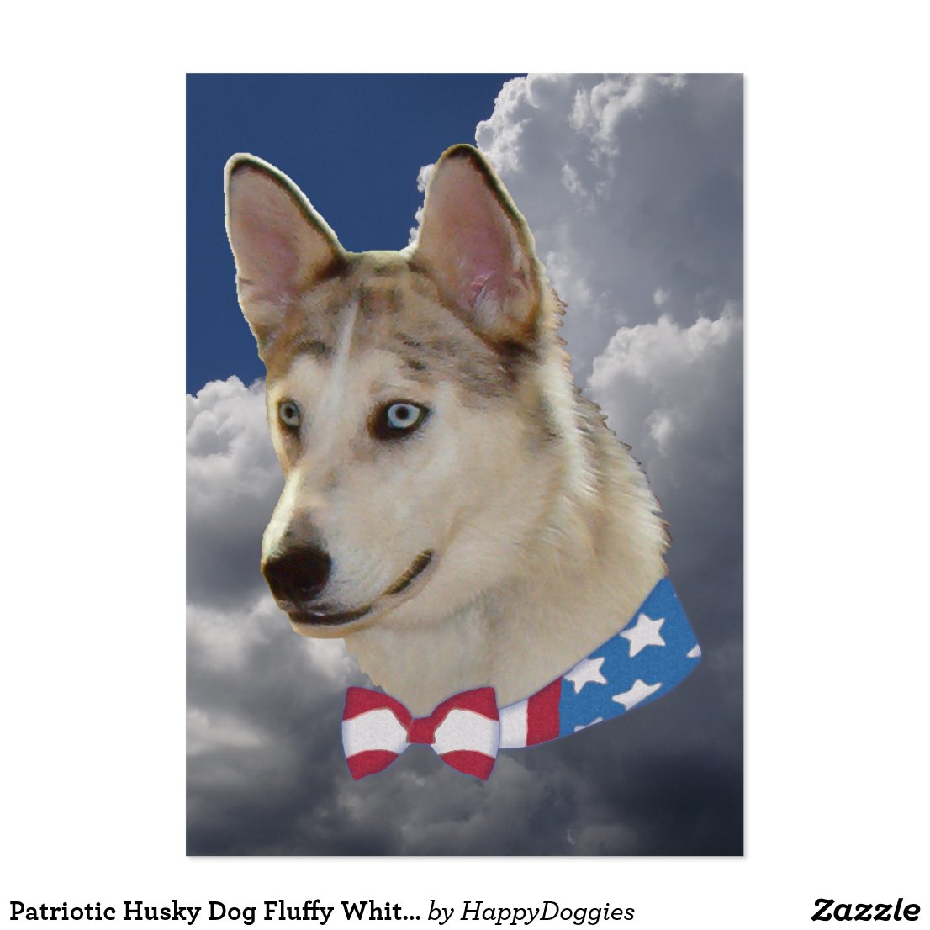 Patriotic Husky Dog Fluffy