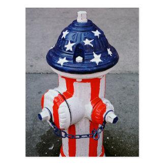 Patriotic Hydrant Postcard