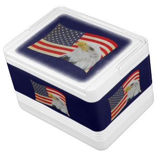 Patriotic Igloo Can Cooler